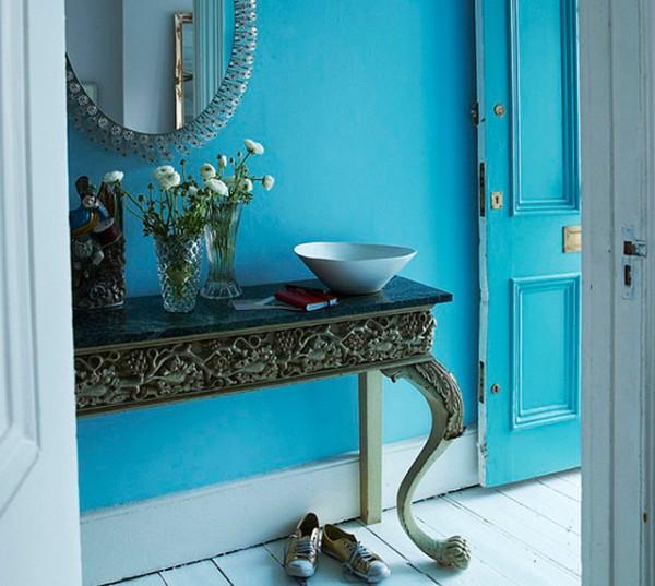 Verano azul decoraci n for Pintura azul para interiores