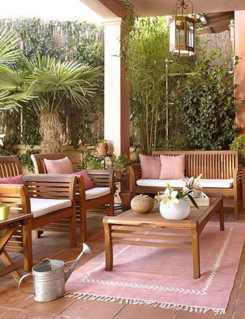 Muebles de exterior mantenimiento y cuidados decoraci n for Muebles para terraza en madera